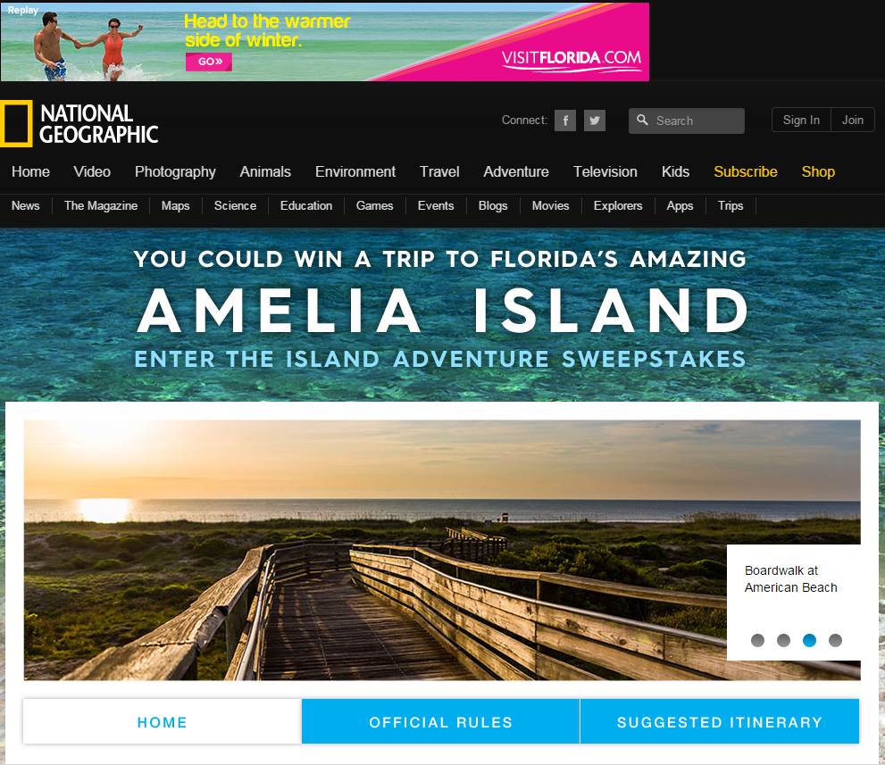 Florida 500 years of adventure sweepstakes and contests